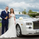 White Rolls Royce Phantom Wedding Car