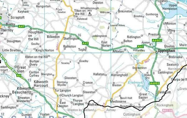 Leicestershire areas on map